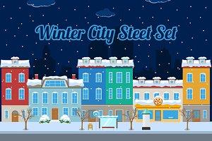 Winter City Street Building Kit
