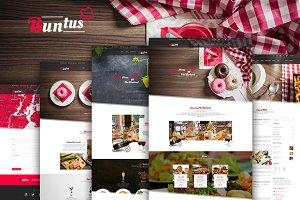 Buntus-Food & Restaurent PSD Templat