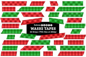 Christmas Gingham Washi Tapes