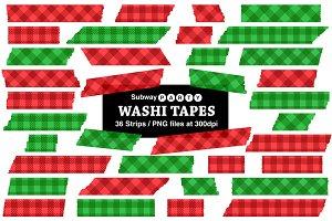 Christmas Gingham Washi Tapes
