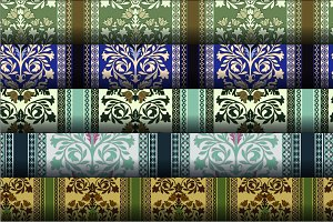 5 Seamless Damask Patterns