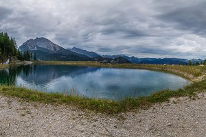 Reflecting Mountains panorama