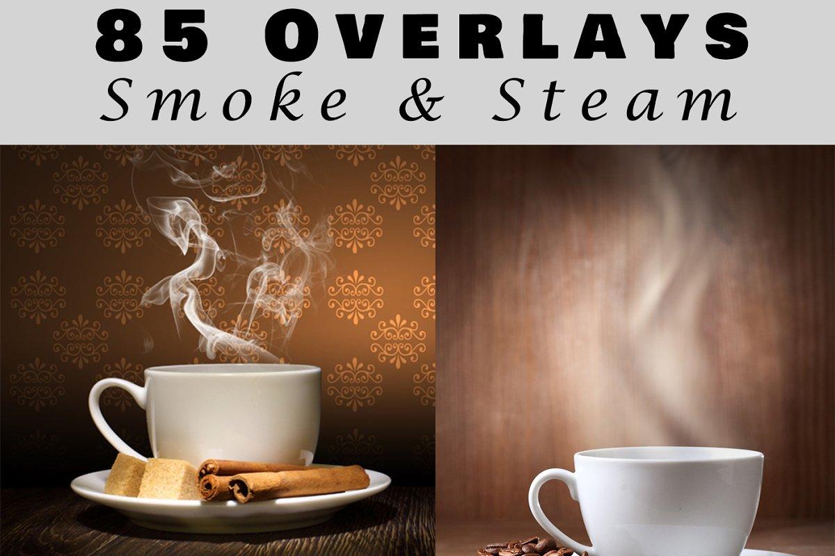 85 Smoke and steam overlays