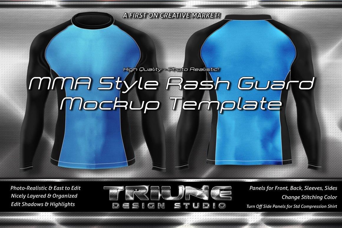 mma style rash guard mockup kit product mockups creative market. Black Bedroom Furniture Sets. Home Design Ideas