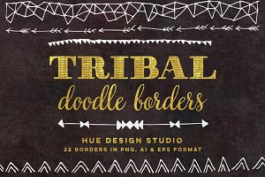 tribal hand drawn borders clip art