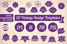 20 Vintage Badge Templates