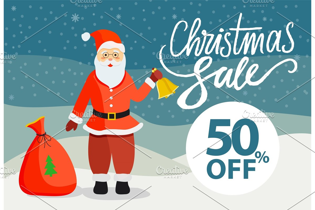 Poster with Santa Claus and