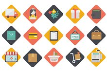 Big set of shopping icons. Vector.