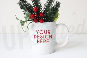 F152 Christmas Styled Mug Mock Up