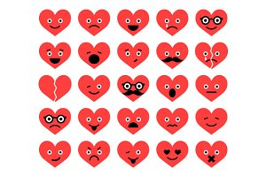 Valentine Hearts Emoticons