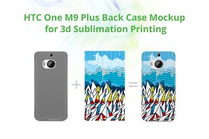 One M9 Plus 3dCase Design Mockup