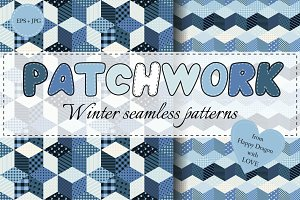 Collection of winter patchwork