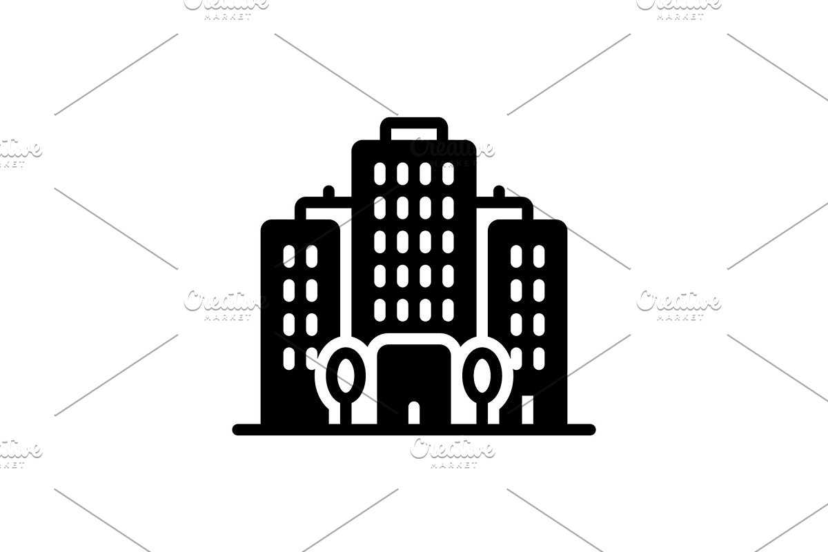 Office block icon in Icons