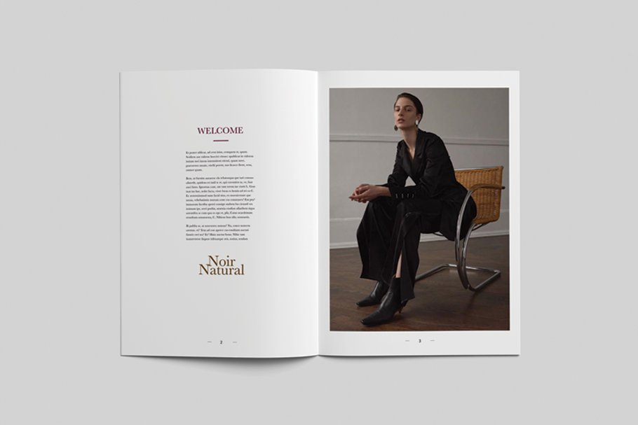 Noir Natural Moodboard Magazine