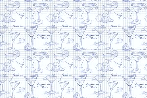 scetch pattern cocktail