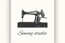 sewing studio emblem