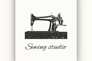 sewing studio emblem