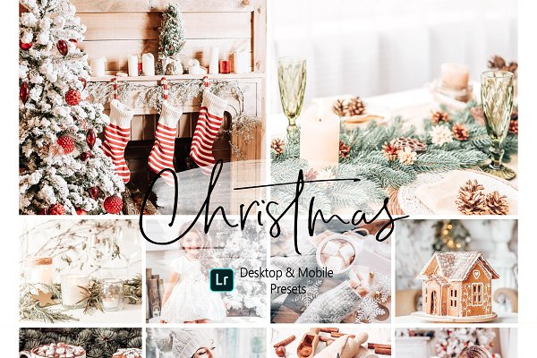 11 Christmas Lightroom Presets