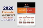 Calendar Business Card 2020 Vol-1