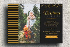Golden Christmas Mini Session