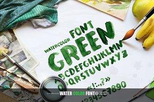 GREEN! Letter Set