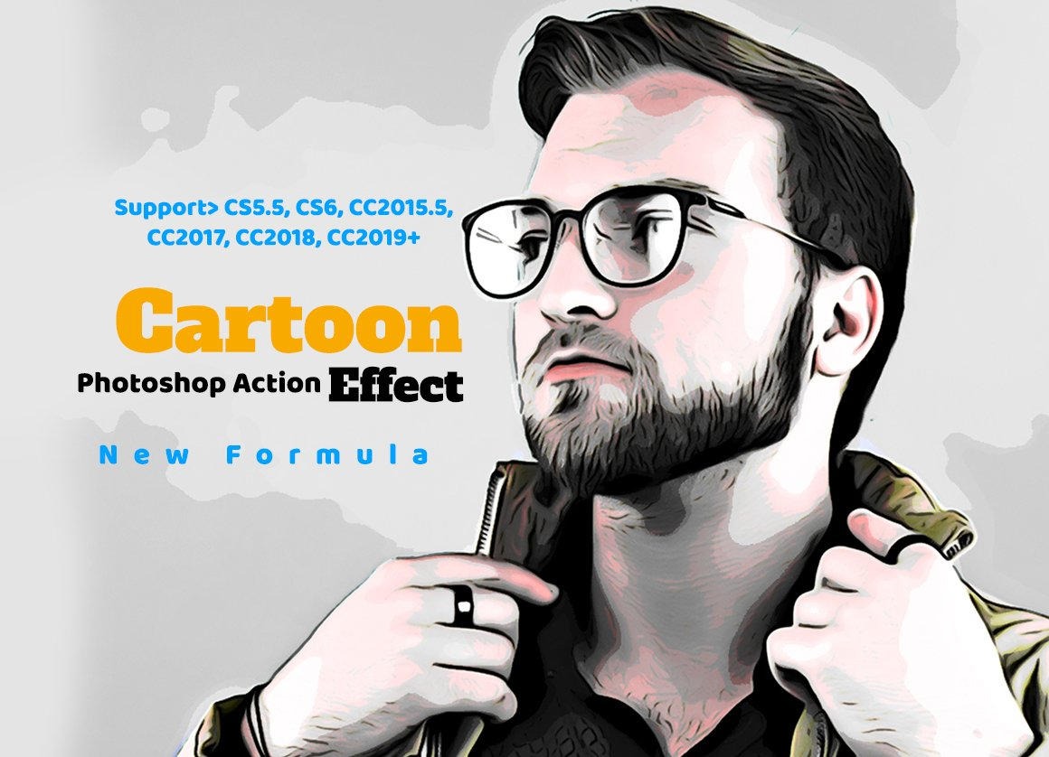 Cartoon Effect Photoshop Action Unique Photoshop Add Ons Creative Market