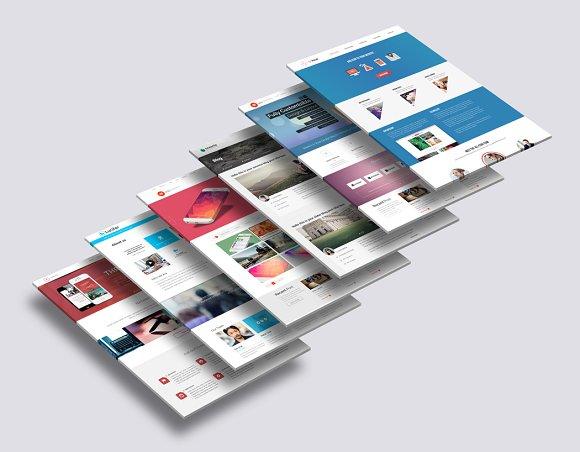 3D Website Mock-Up 2 in Mobile & Web Mockups