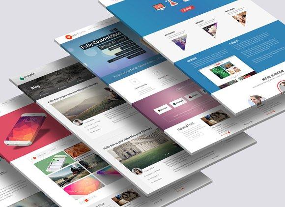 3D Website Mock-Up 2 in Mobile & Web Mockups - product preview 1