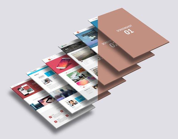 3D Website Mock-Up 2 in Mobile & Web Mockups - product preview 3