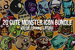 Cute Monster Icon Bundle