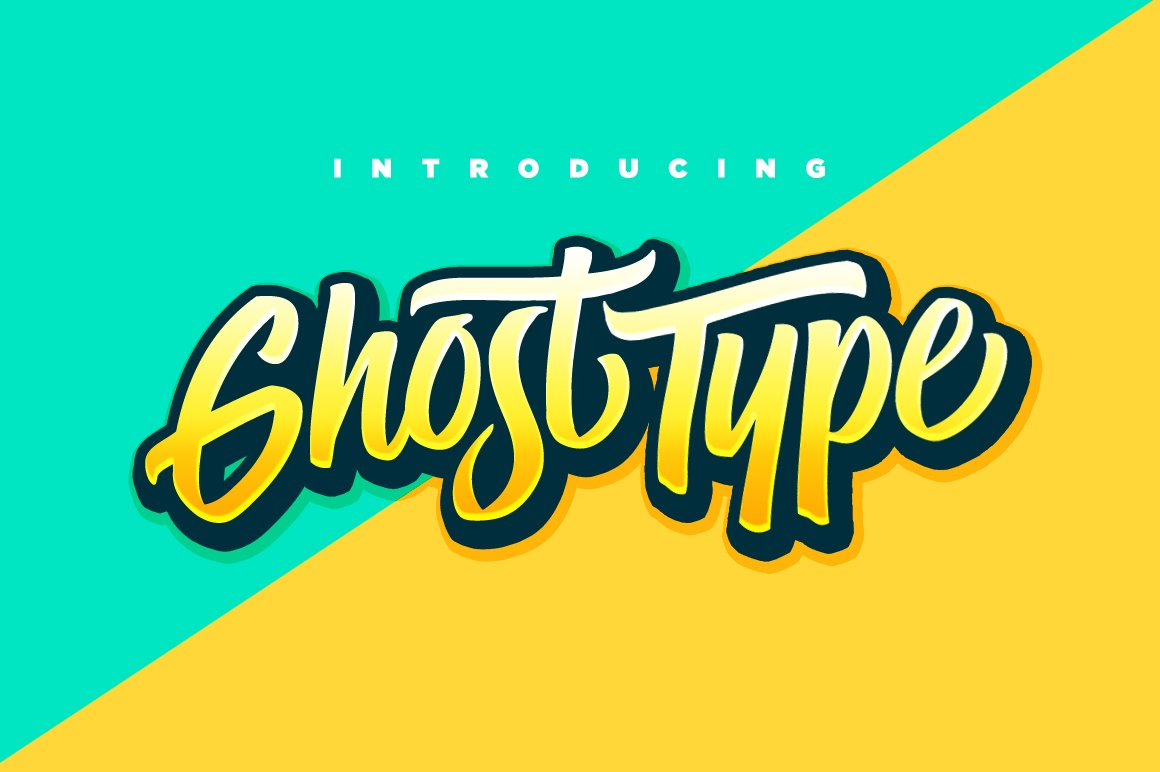 Ghost Type Script Fonts Creative Market