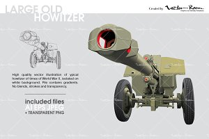 Large Old Howitzer