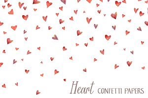 Heart Confetti Papers / Background