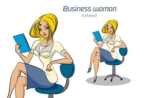 Secretary sitting