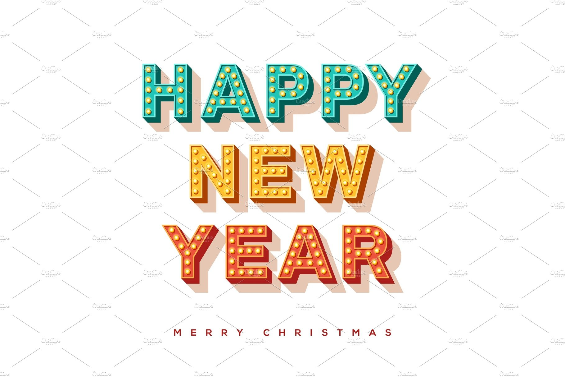 Happy New Year Font 77