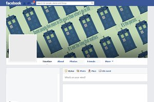 Doctor Who themed Facebook Cover