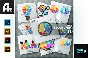 Paper Infographic Templates Bundle