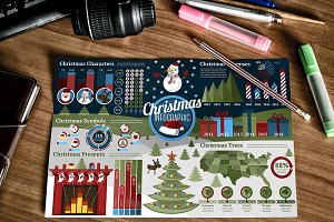 Set of Christmas Infographics
