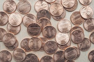 USA One Cent coins