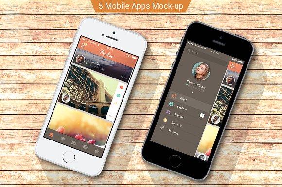 iPhone apps Mock-ups