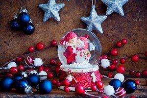 Merry christmas glass ball