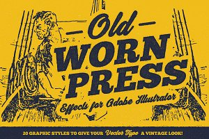 Old Worn Press - Illustrator Styles