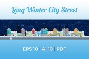 Long Winter City Street