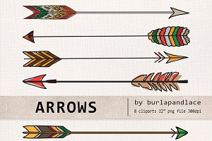 Hand Drawn clipart arrows