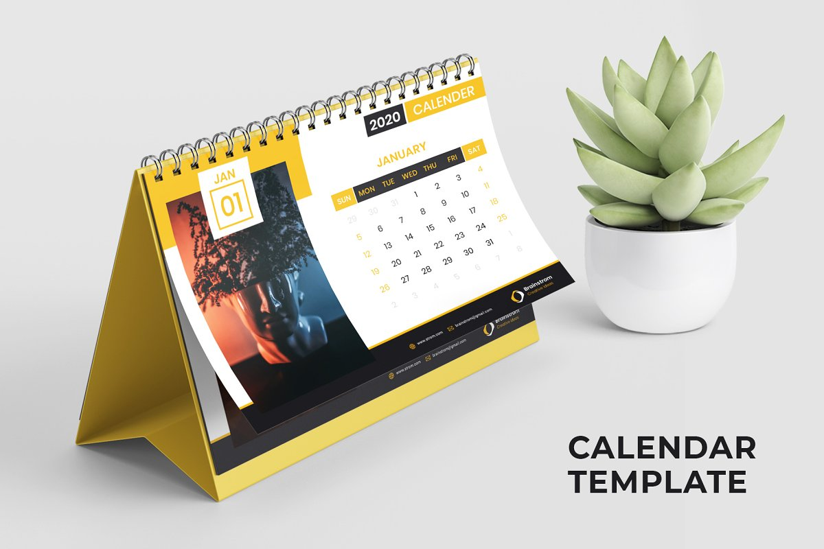 Calendar 2020 Template in Magazine Templates