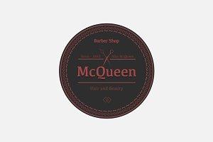 Barber Shop Logo - McQueen