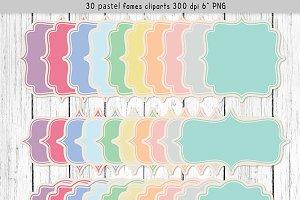 Cliparts pastel frames