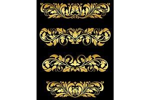 Golden floral embellishments