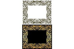 Elegance frame in floral style