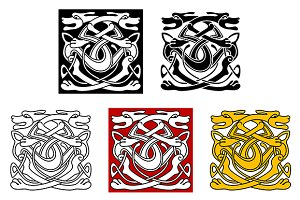 Dogs celtic pattern